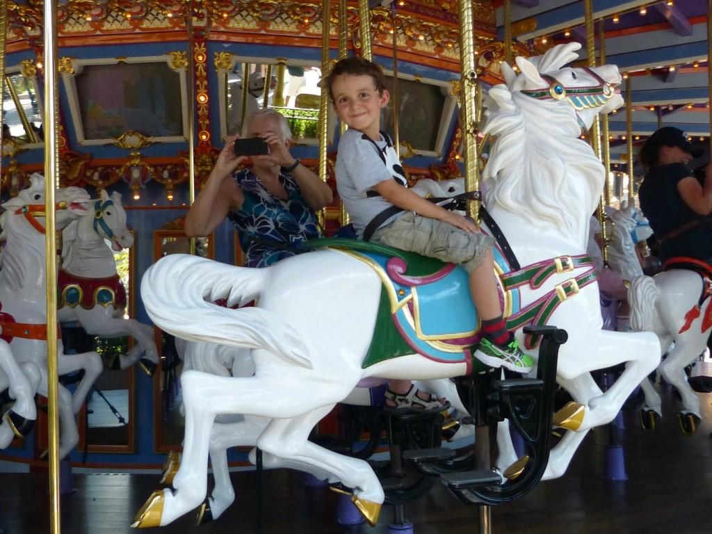 charlie rides disneyland merry