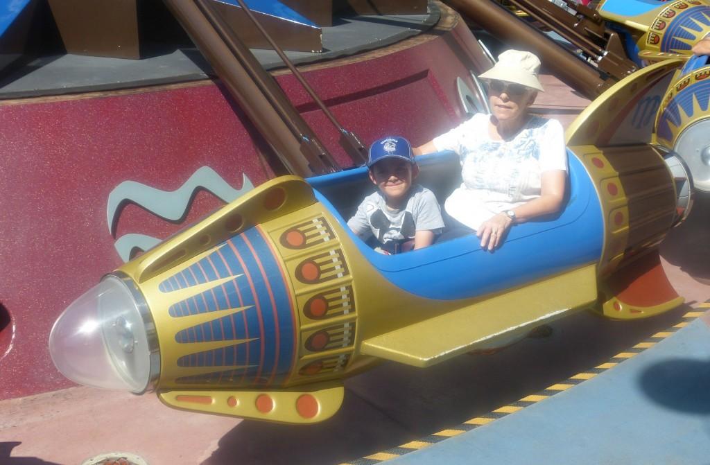 charlie rides disneyland rocket