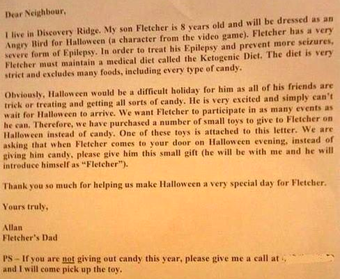 The Letter from Fletcher's Dad