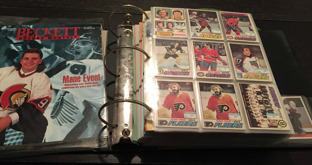 Binder full of hockey cards
