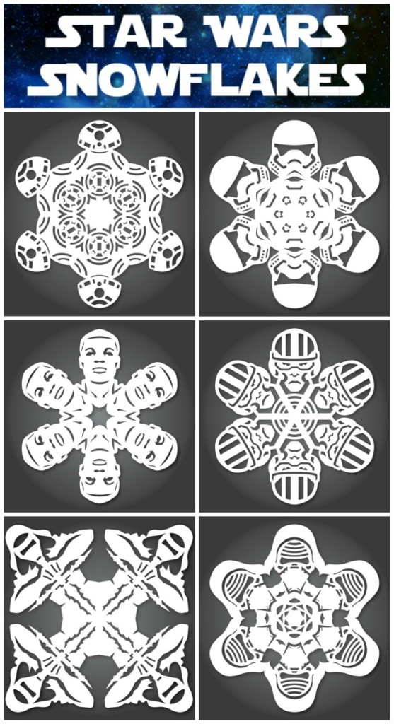 New Star Wars Snowflake Templates For The Force Awakens
