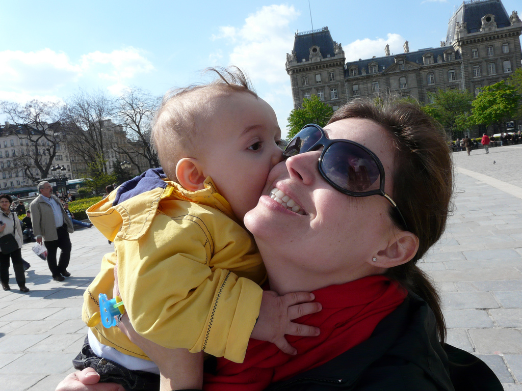 Zacharie and Mama in Paris