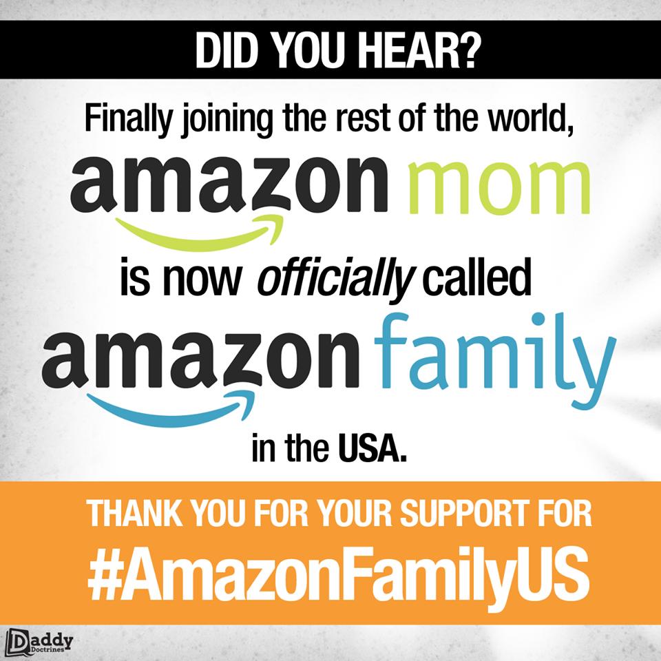 Amazon Mom is now Amazon Family