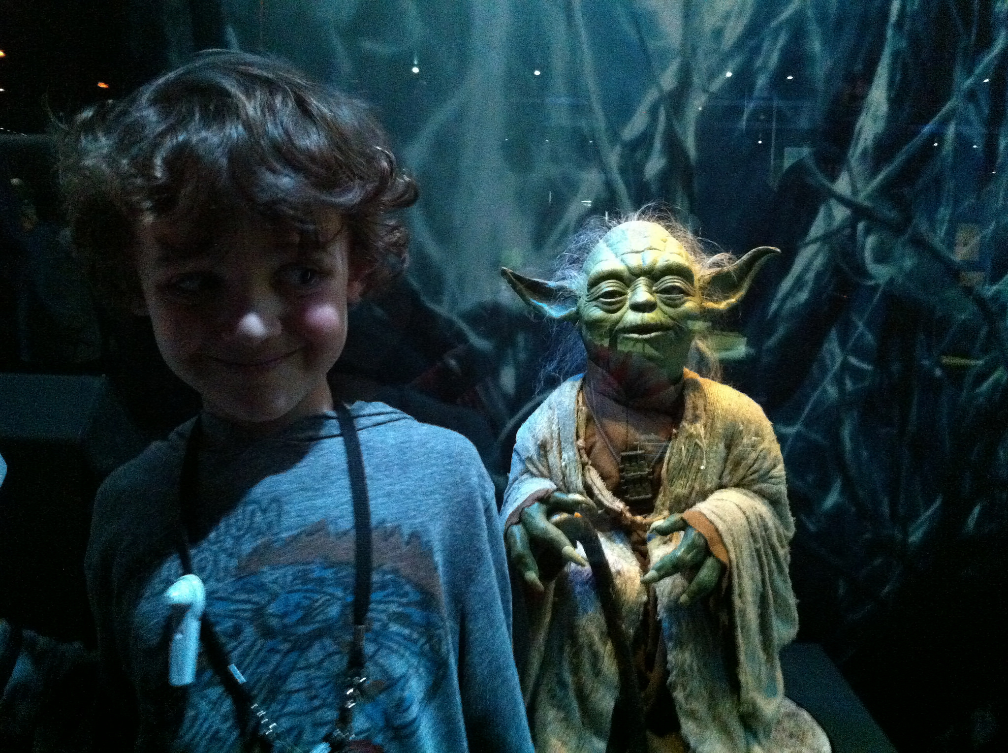 Zacharie and Yoda at Star Wars Identities