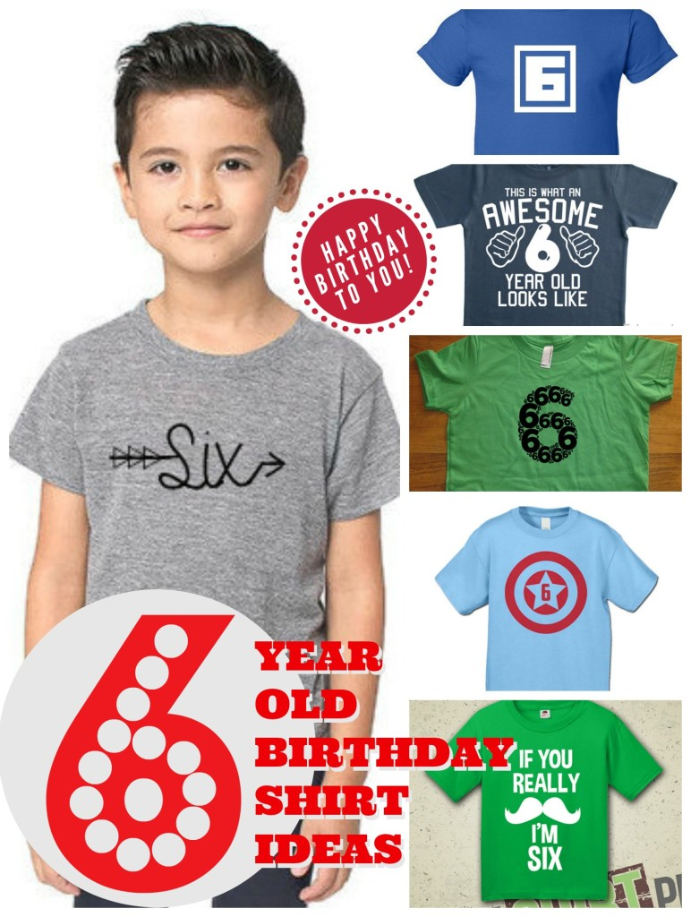6 Year Old Birthday Shirt