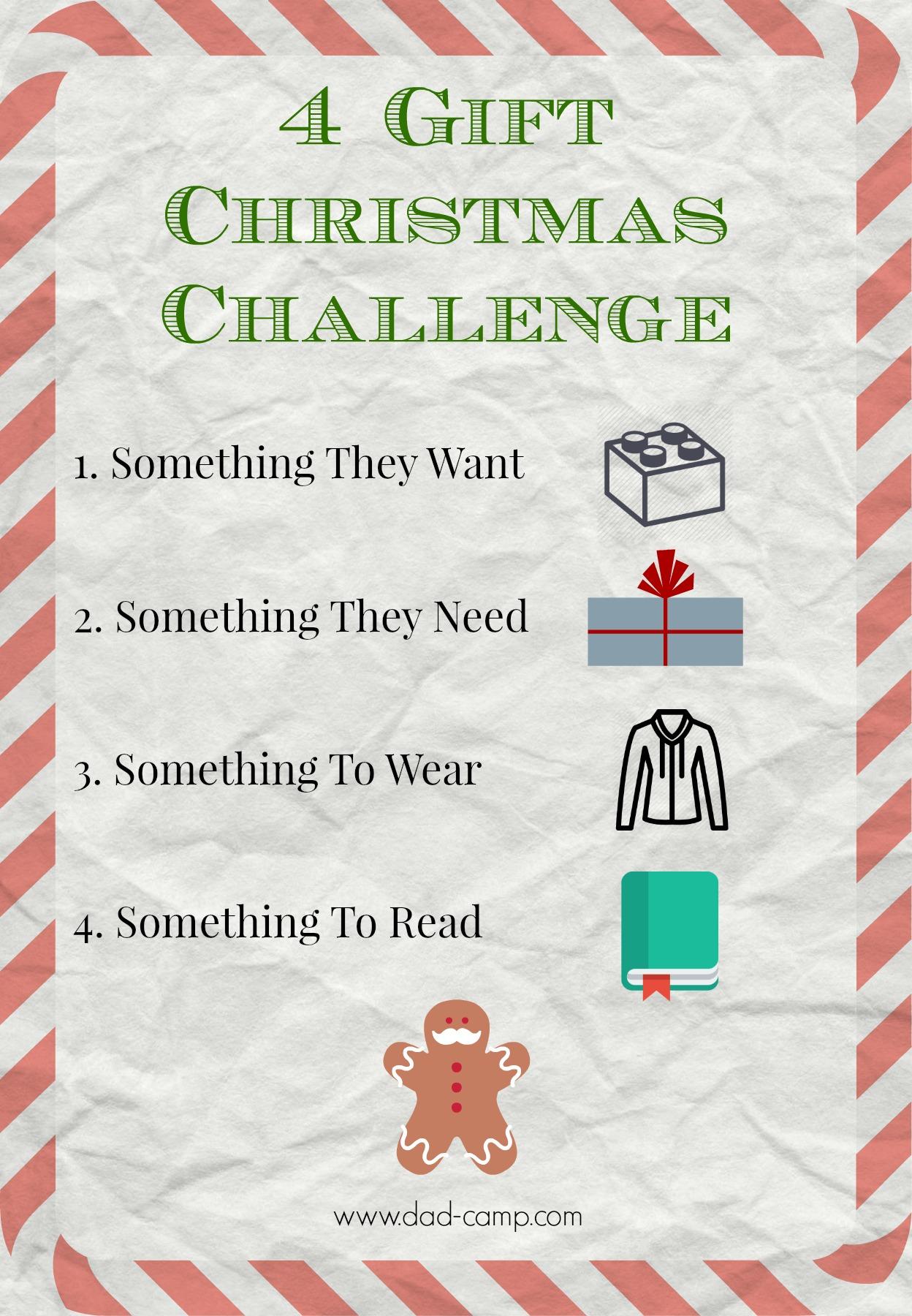 The 4 Gift Christmas Challenge