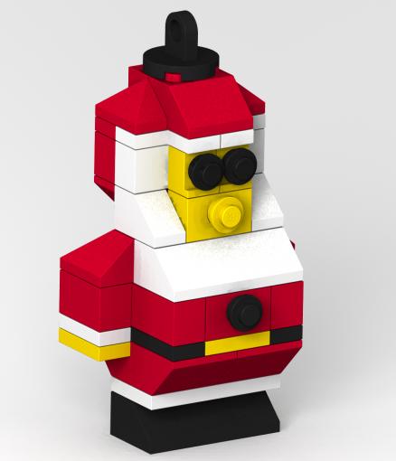 how to make a LEGO Santa