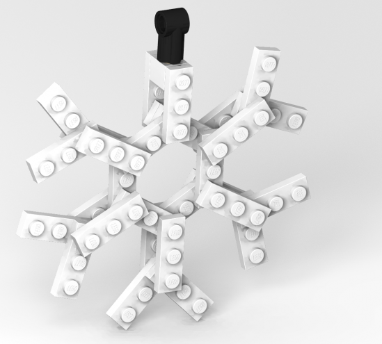 How To Make A LEGO Snowflake