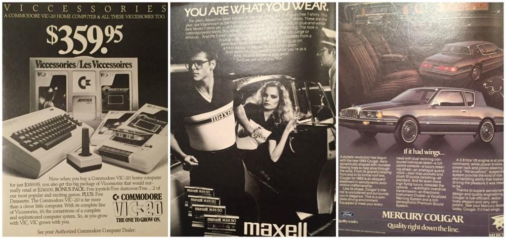 Vintage 1980s Ads