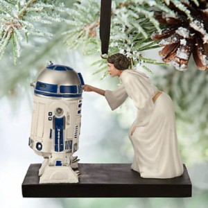R2D2 and Leia Ornament
