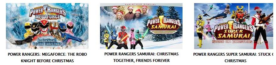 Power Rangers Christmas Specials on Netflix