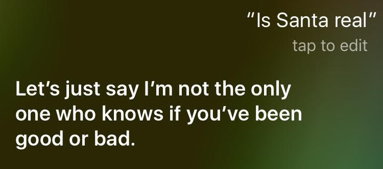 Is Santa Real Siri