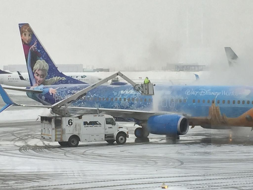 Taking A Winter Break On The DIsney Plane