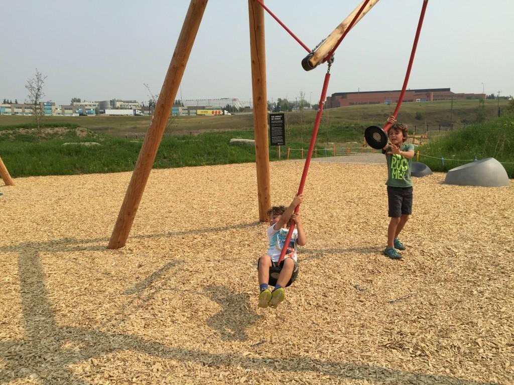 rope swing TELUS Spark