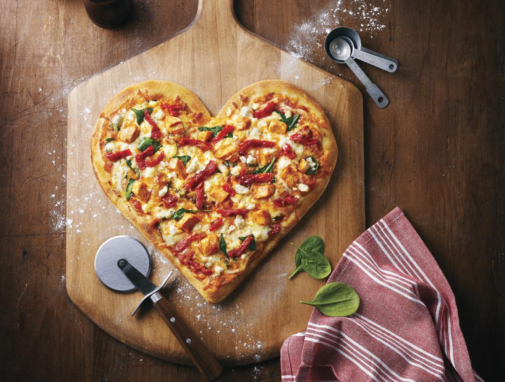 Boston Pizza Heart Shaped Pizza