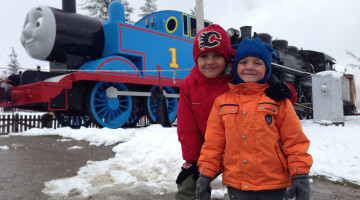 Day Out With Thomas in snow at Heritage Park