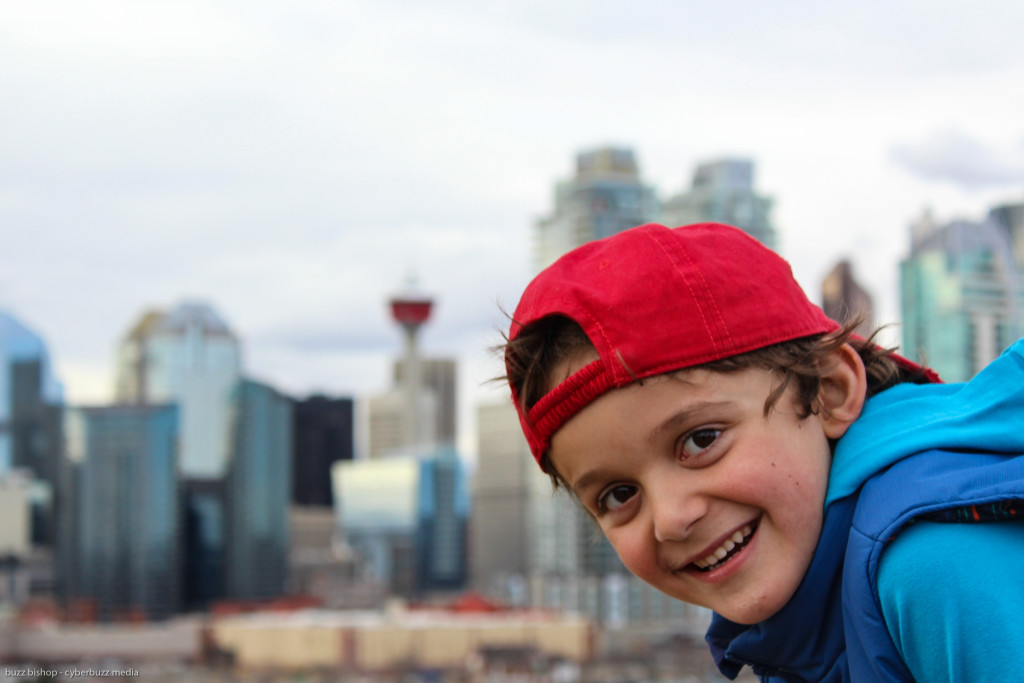 Charlie and Calgary Skyline - DadCAMP