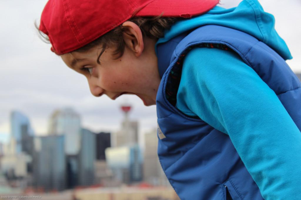 Charlie Eats Calgary Tower - DadCAMP
