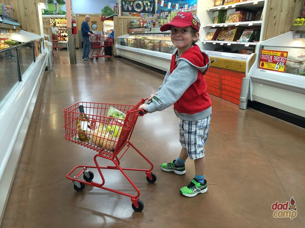Charlie doing the groceries