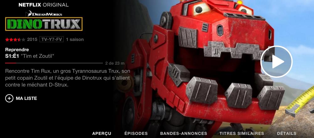 Dinotrux en Francais Netflix