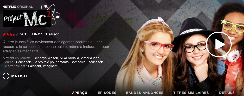 Project MC2 in French - Netflix