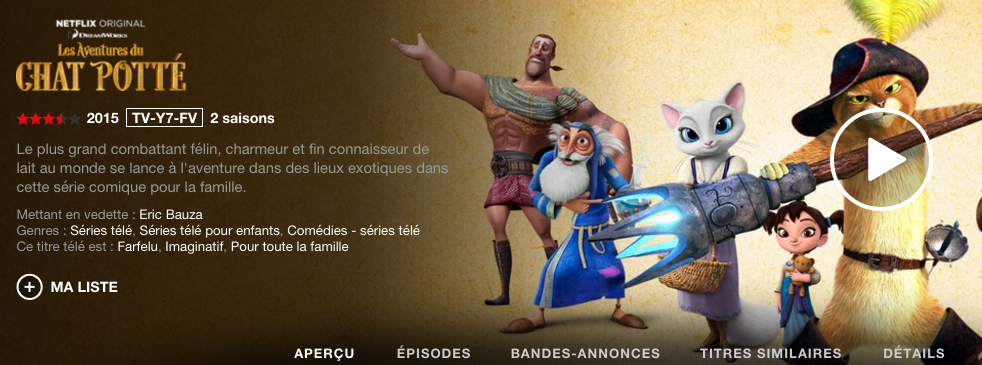 Puss N Boots French - Netflix