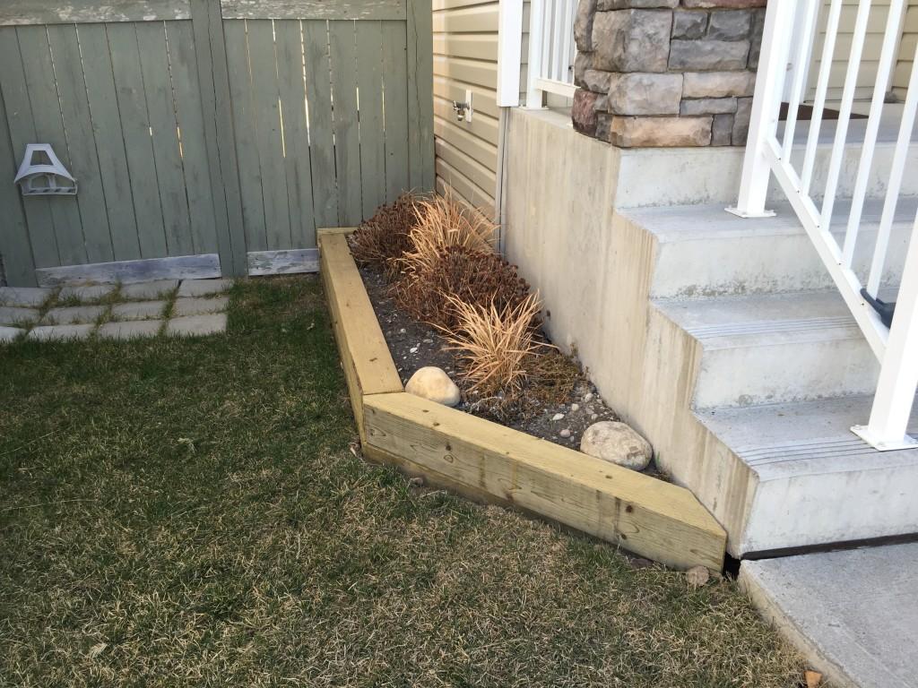 Side yard garden box
