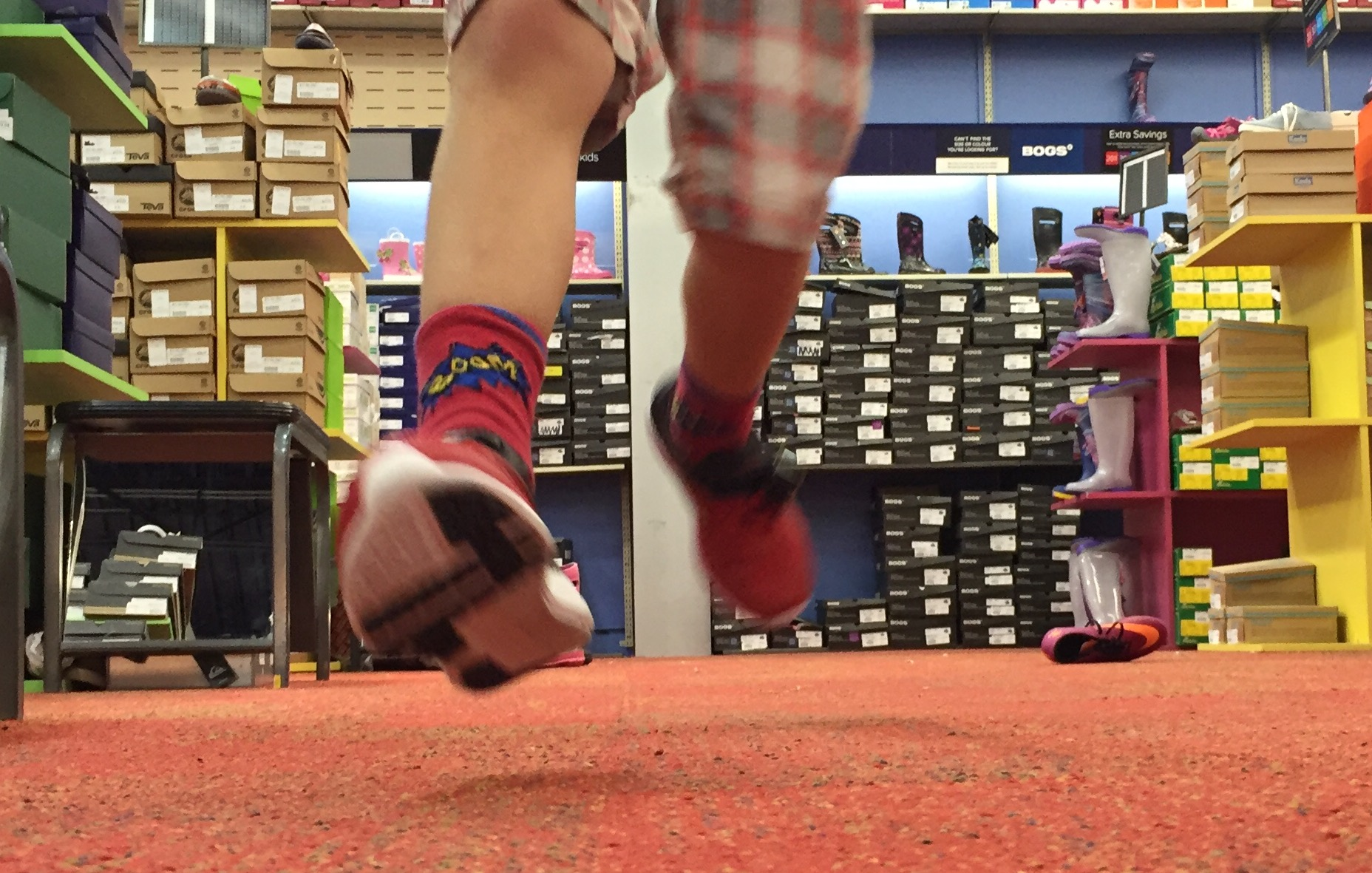 running in the store