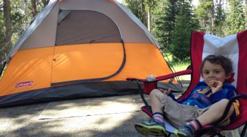Charlie camping
