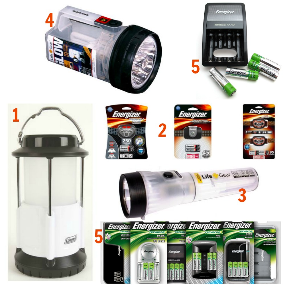 Camping Flashlight Collage