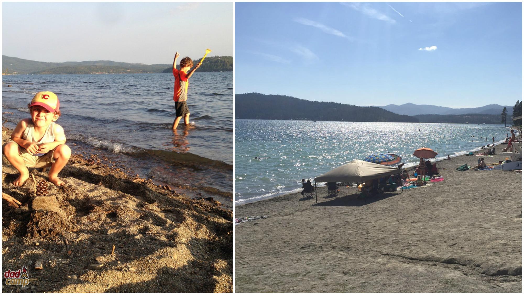 Beaches on Lake Coeur D'Alene - DadCAMP