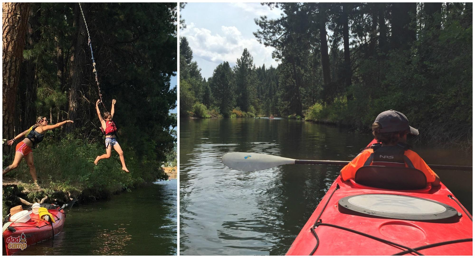 Kayak in CDA with ROW Adventures - DadCAMP
