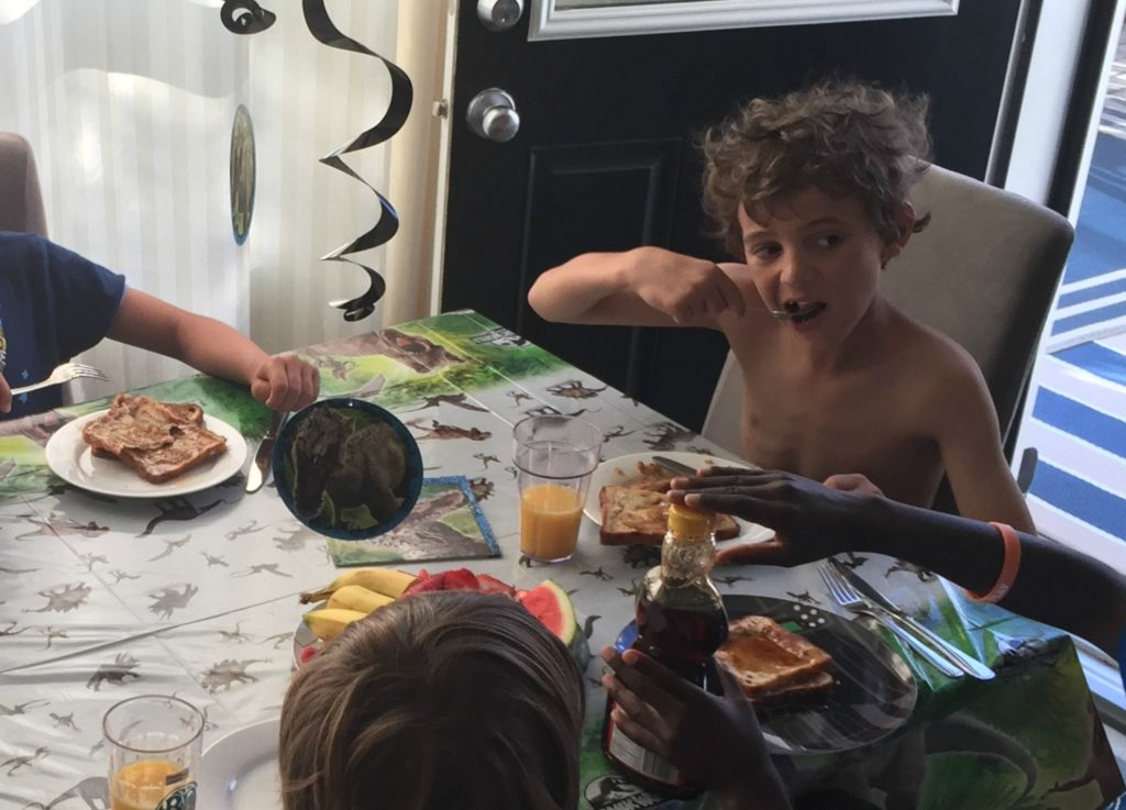 sleepover breakfast
