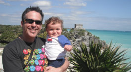 charlie and daddy in mexico