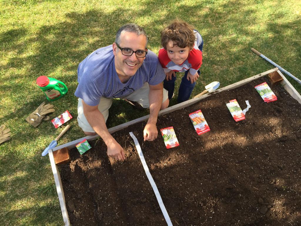 Charlie gardening