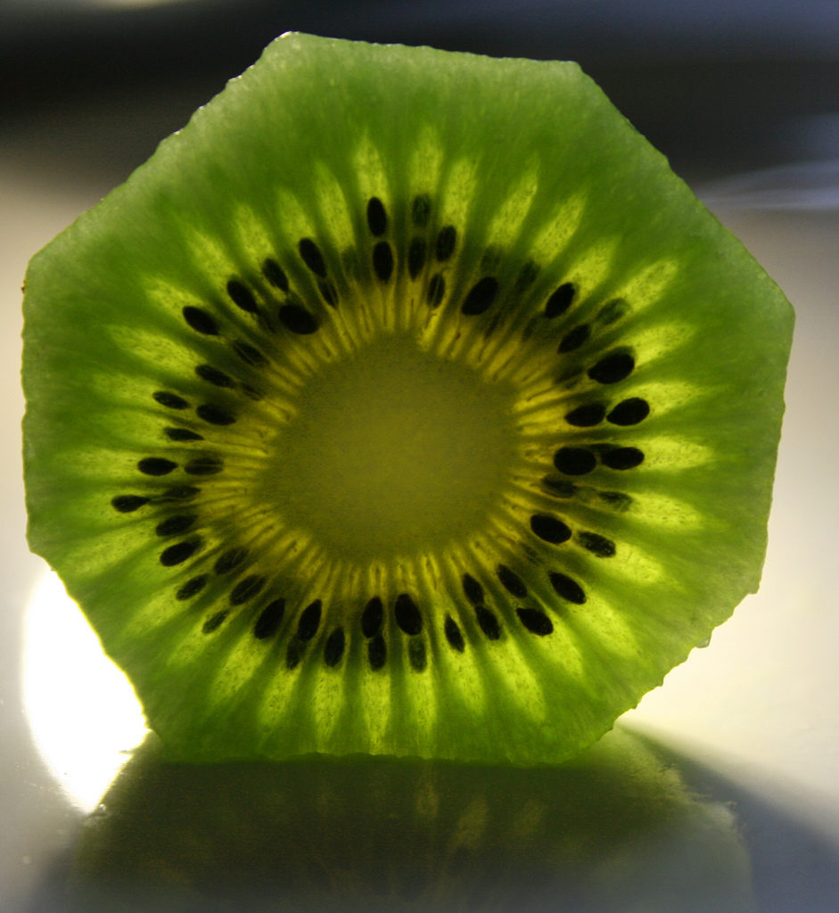 slice of kiwifruit
