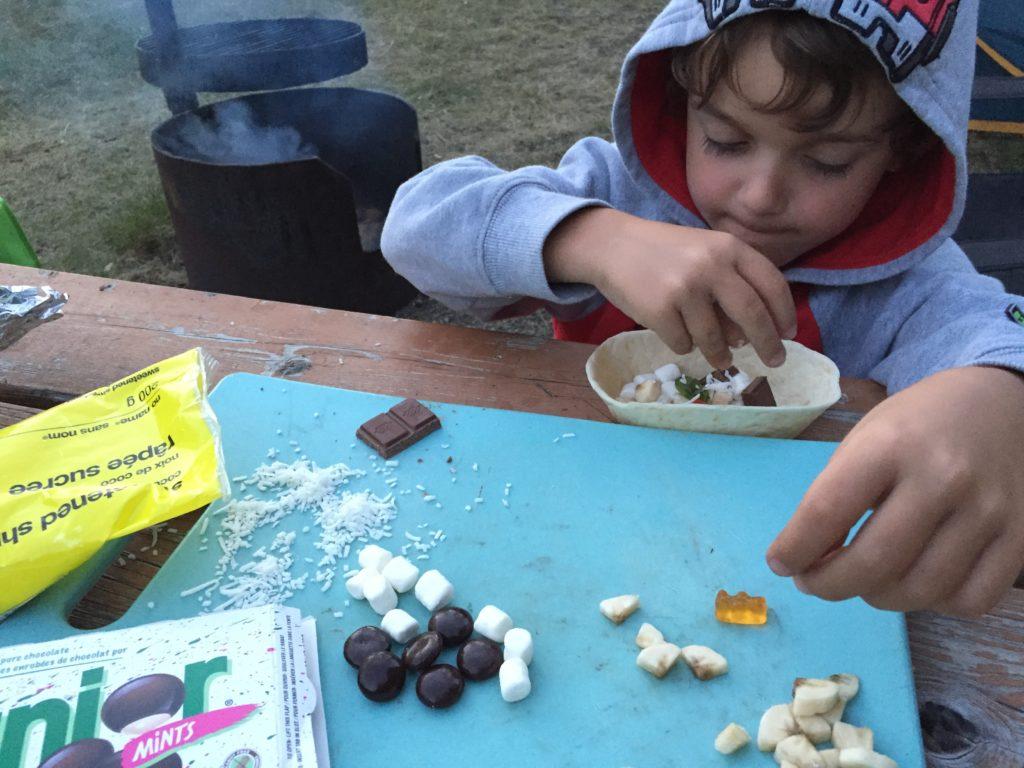 campfire smore tortilla bowl