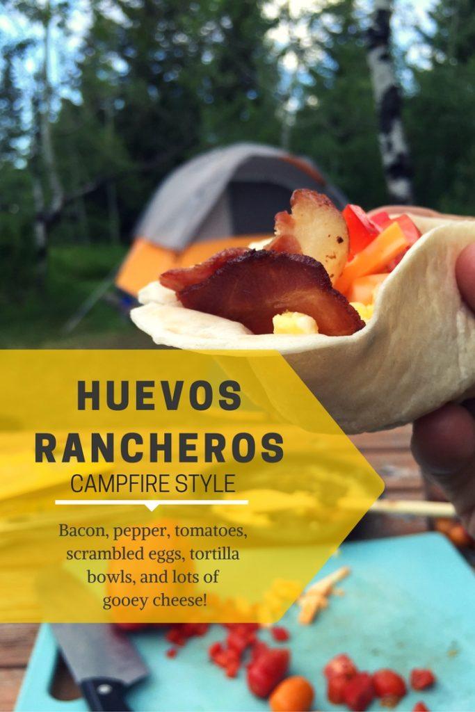 Huevos Racheros Campfire Style #camping #eggs #tortillas