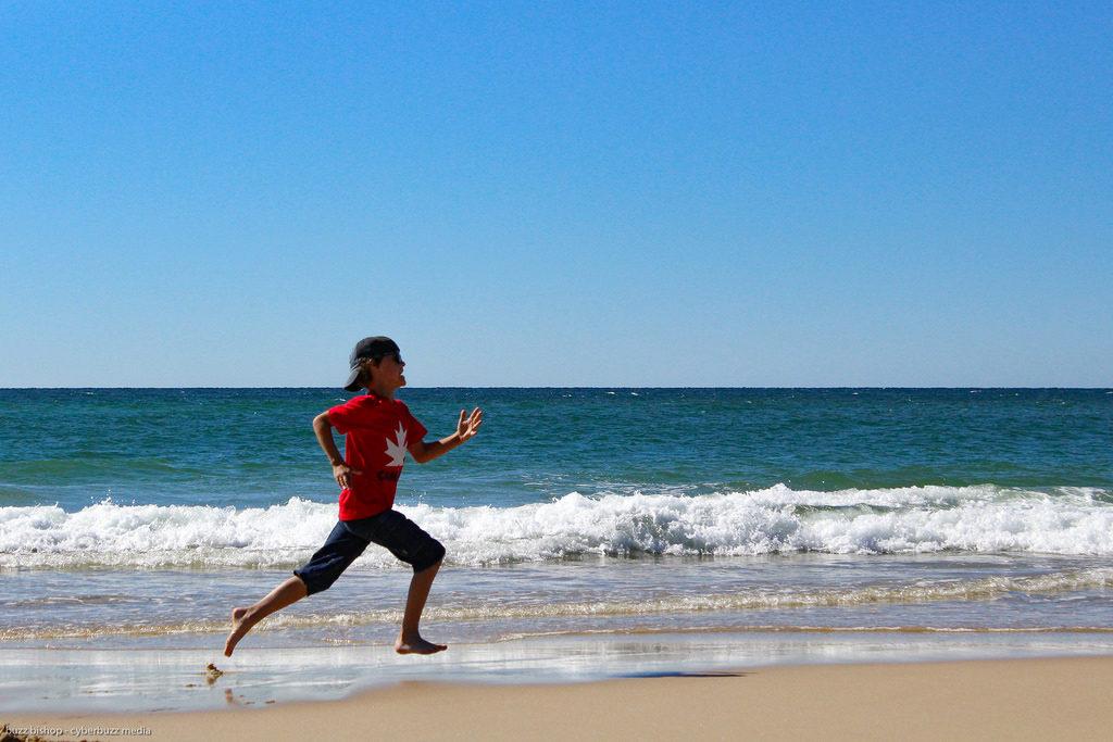 Running on the beach Canada
