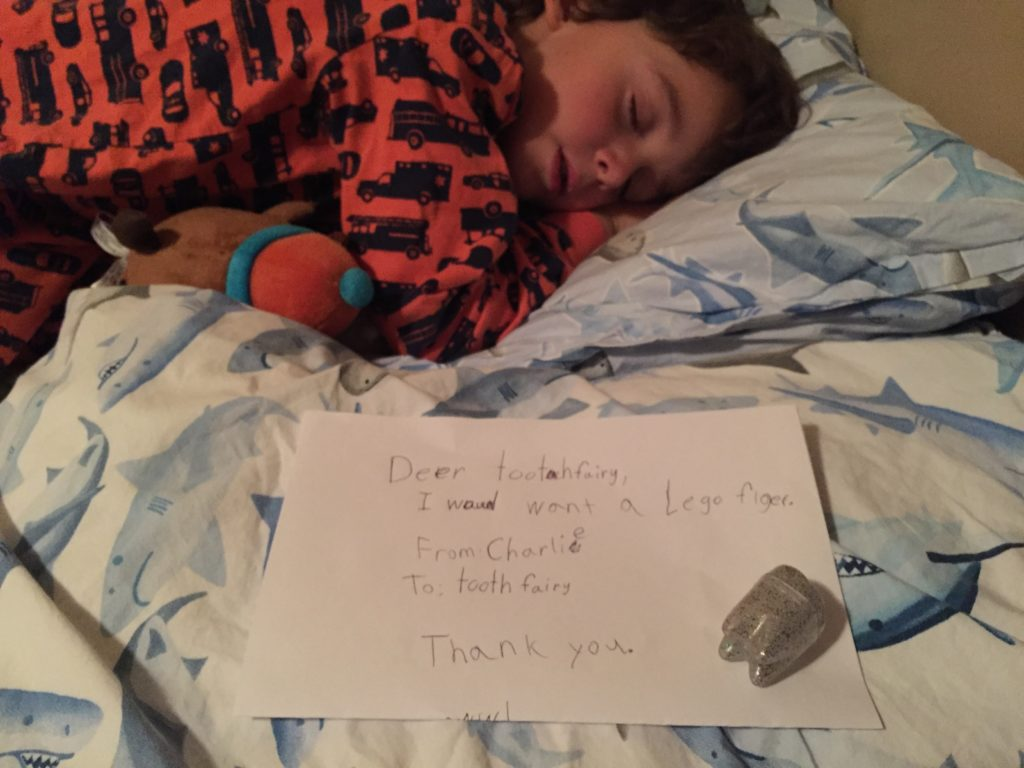 Charlie letter to Tooth Fairy