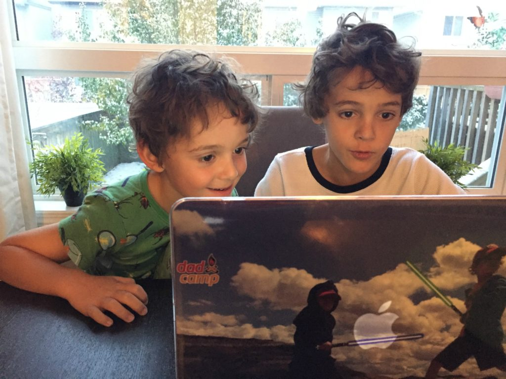 boys at the computer