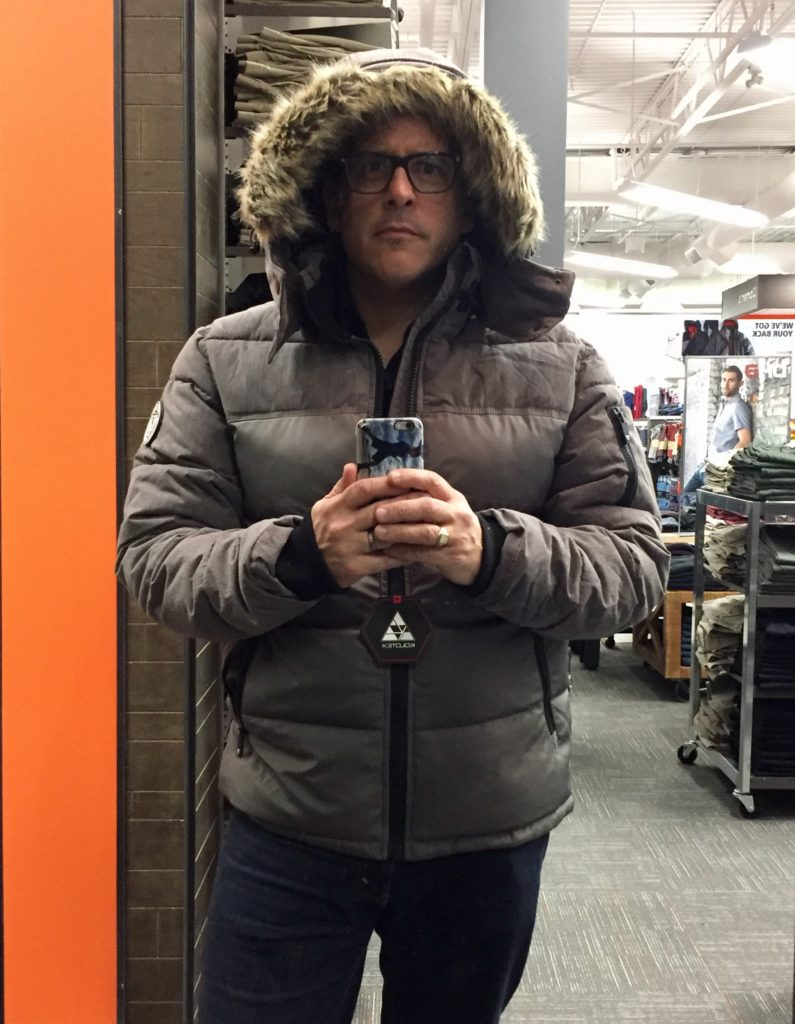 puffer parka at Mark's
