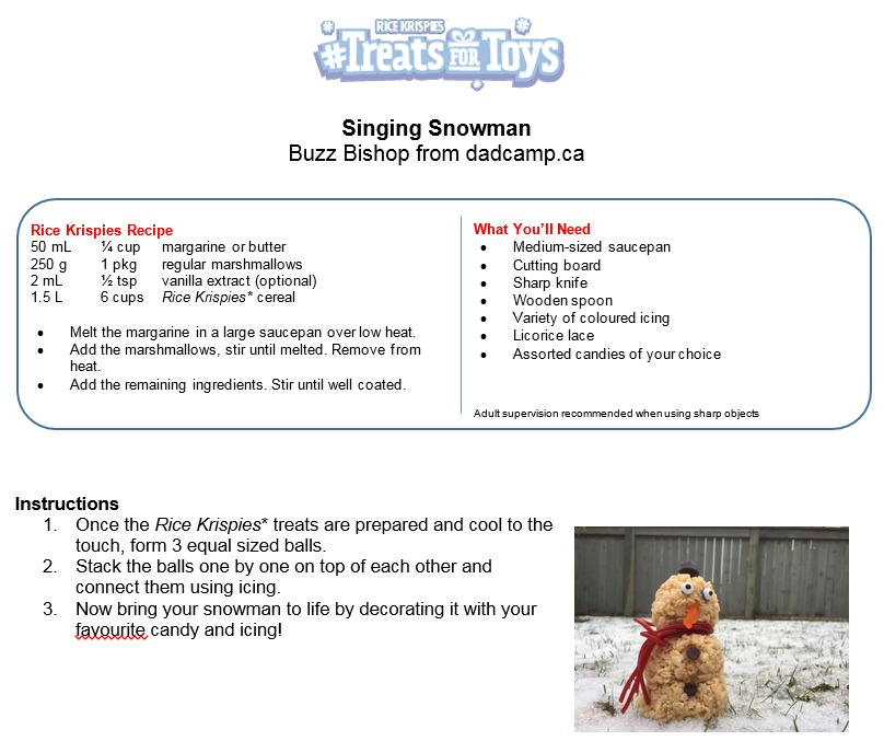Snowman Treats For Toys