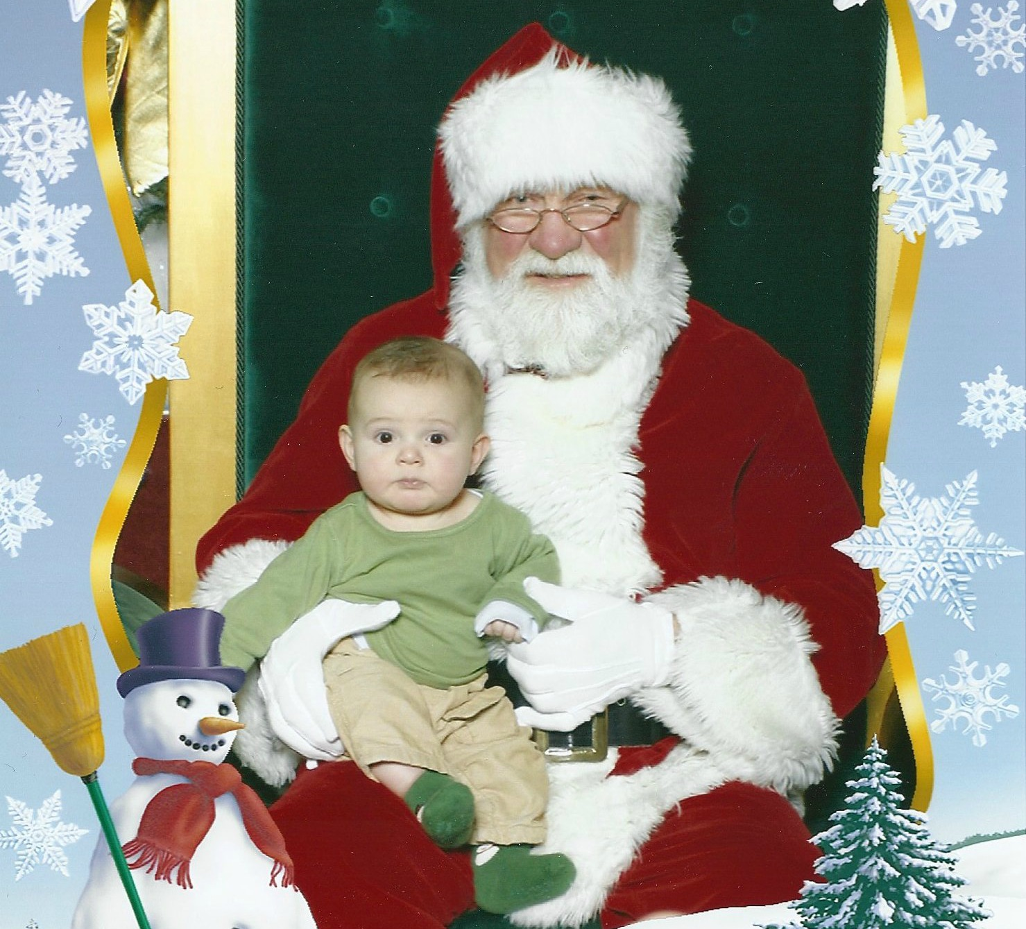 Zacharie and Santa