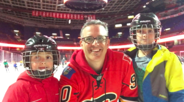 skating at saddledome