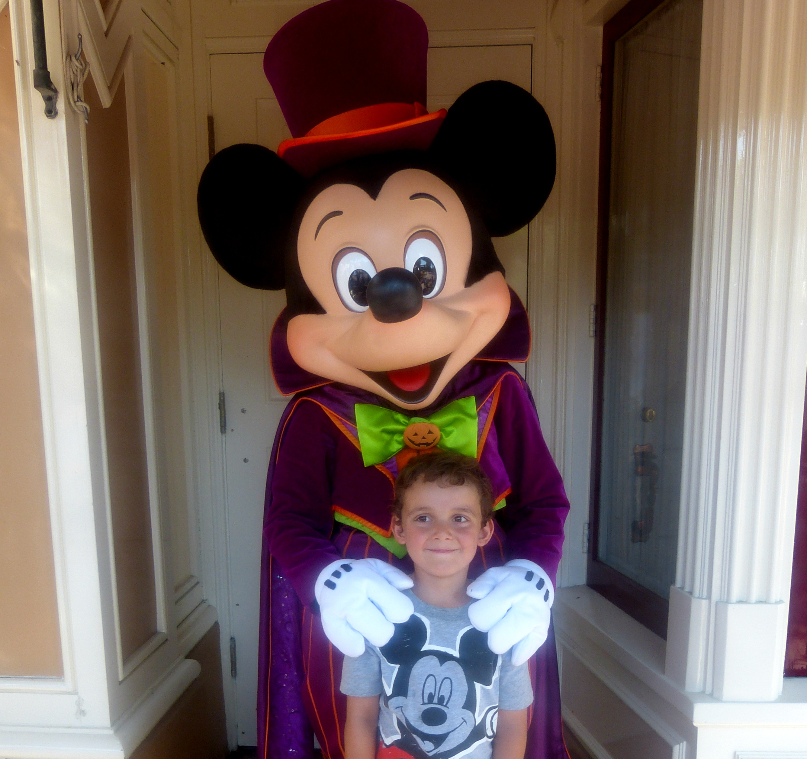 Mickey Mouse and Charlie at Halloween Time