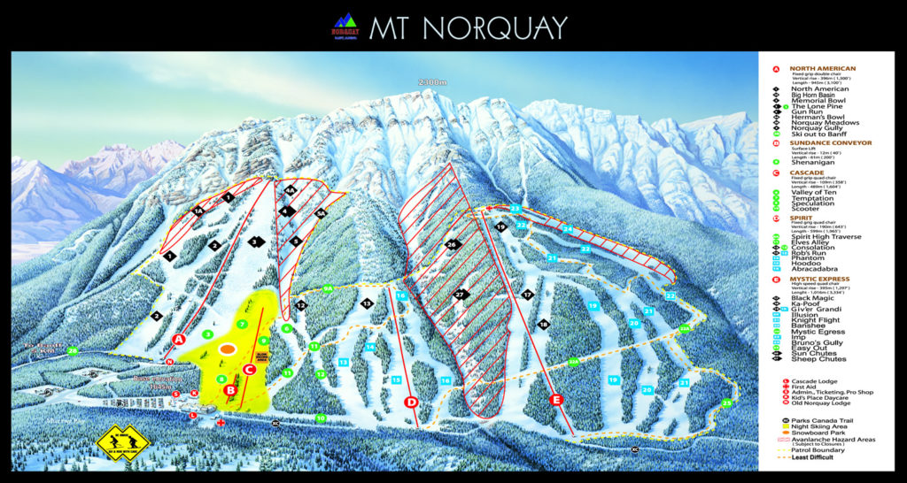mount norquay trail map