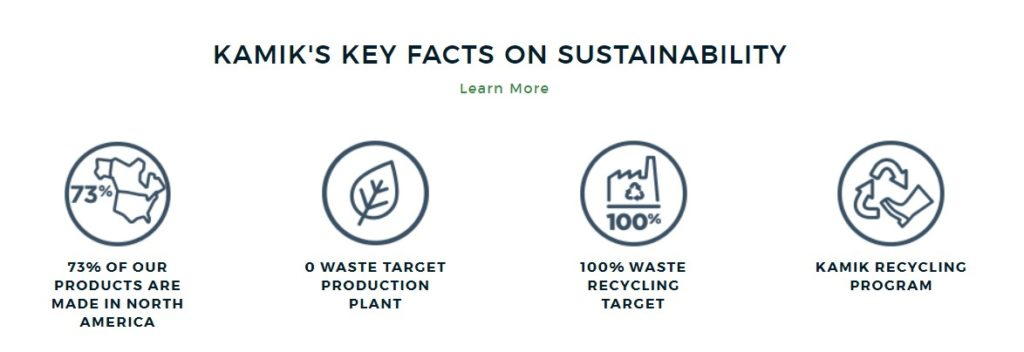 Kamik sustainability